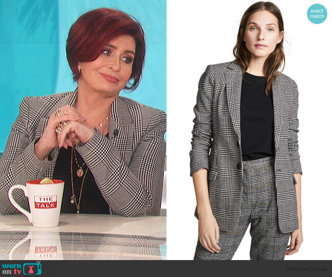 The Calla Blazer by Current/Elliott worn by Sharon Osbourne  on The Talk
