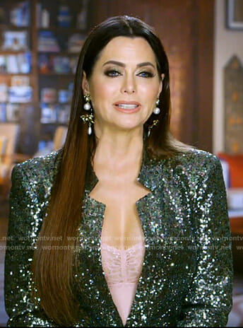 D'Andra's green sequin jacket on The Real Housewives of Dallas