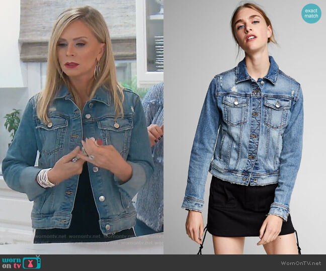 Denim Jacket by Zara worn by Tamra Judge  on The Real Housewives of Orange County