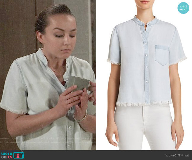 DL1961 Montauk Chambray Shirt worn by Kristina Corinthos (Lexi Ainsworth) on General Hospital