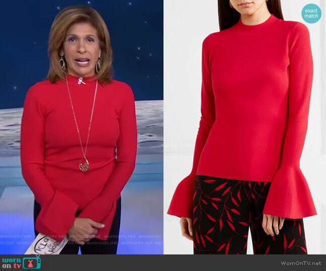 Stretch-Knit Top by Diane von Furstenberg worn by Hoda Kotb (Hoda Kotb) on Today