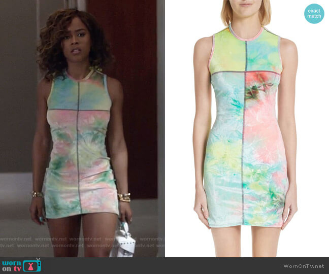Tie Dye Velour Minidress by EcKhaus Latta worn by Tiana Brown (Serayah McNeill) on Empire