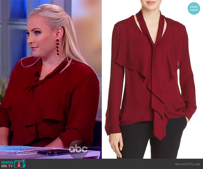 Jurnee Silk Tie-Neck Blouse by Elie Tahari worn by Meghan McCain (Meghan McCain) on The View