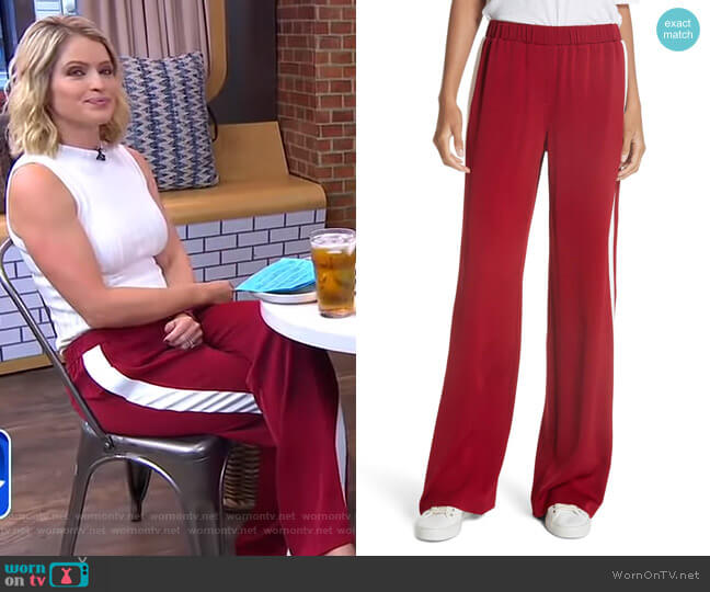 Kelly Pants by Elizabeth and James worn by Sara Haines on Good Morning America