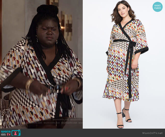 Dropped Shoulder Kimono Dress by Eloquii worn by Becky (Gabourey Sidibe) on Empire