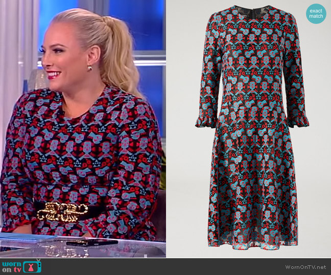 Pleated dress in cyber lace by Emporio Armani worn by Meghan McCain (Meghan McCain) on The View