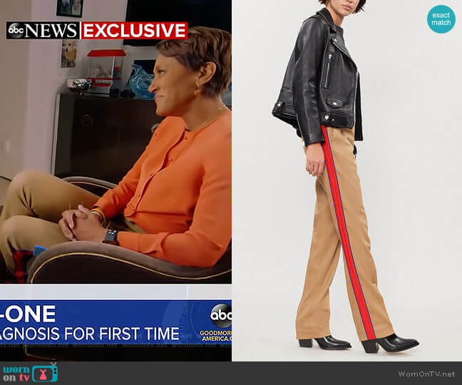 Ermanno Pants by Pinko worn by Robin Roberts (Robin Roberts) on Good Morning America