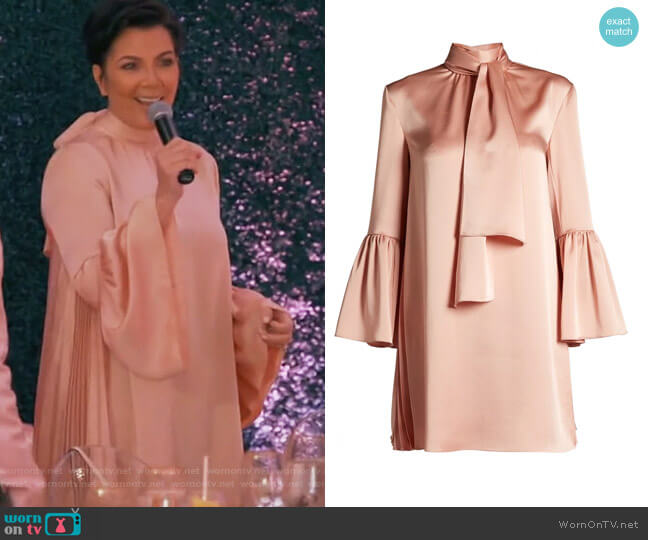 Pleated Silk Dress by Fendi worn by Kris Jenner  on Keeping Up with the Kardashians