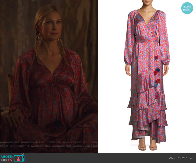 Federica Dress by Figue worn by Kelly Rutherford on Dynasty