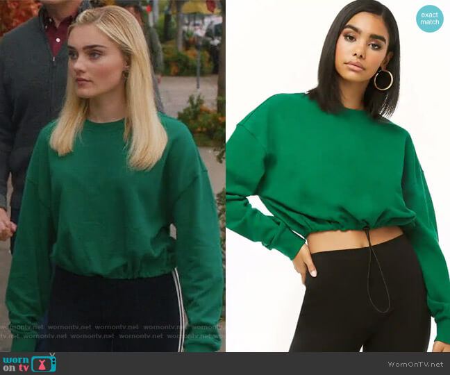 Drawstring-Hem Pullover by Forever 21 worn by Meg Donnelly on American Housewife