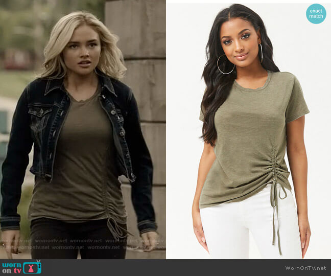 Ruched Drawstring Tee by Forever 21 worn by Lauren Strucker (Natalie Alyn Lind) on The Gifted