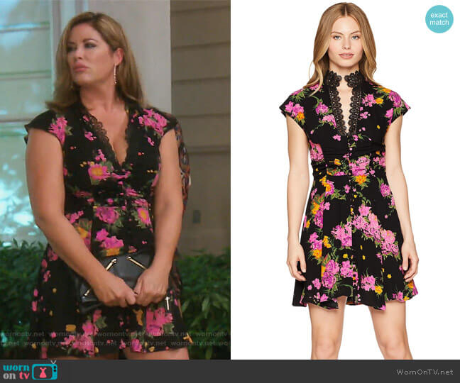 Alora Mini Dress by Free People worn by Emily Simpson on The Real Housewives of Orange County