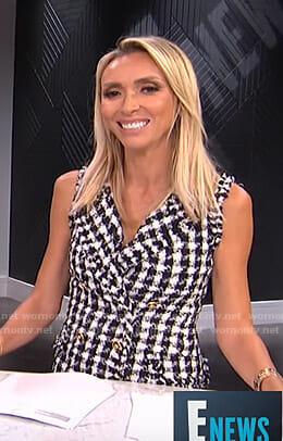 Giuliana's black and white tweed dress on E! News