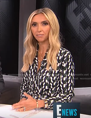 Giuliana's geometric print dress on E! News