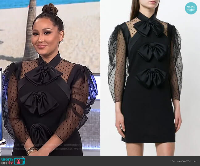 Bow Front Short Dress by Givenchy worn by Adrienne Houghton  on The Real