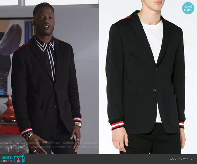 Stripe-Trimmed Blazer by Givenchy worn by Jeff Colby (Sam Adegoke) on Dynasty