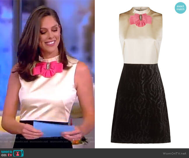 Bow Brooch Sleeveless Dress by Gucci worn by Abby Huntsman on The View