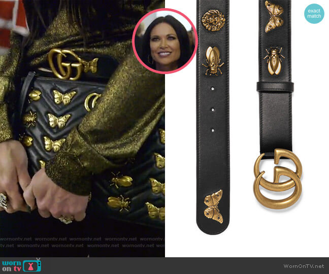 Embellished Leather Belt by Gucci worn by LeeAnne Locken  on The Real Housewives of Dallas