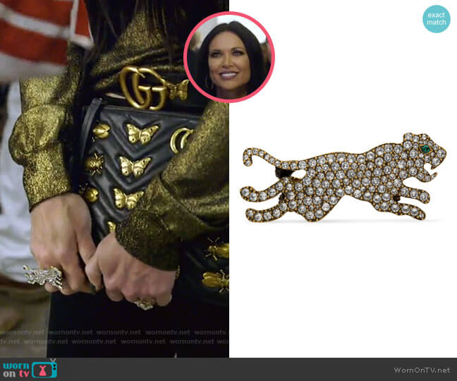Multi-Finger Ring with Tiger by Gucci worn by LeeAnne Locken  on The Real Housewives of Dallas
