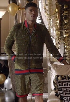 Hakeem's lame track jacket and shorts on Empire