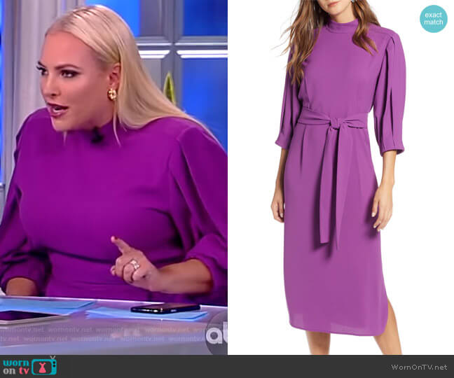 Tie Waist Dress by Halogen worn by Meghan McCain  on The View