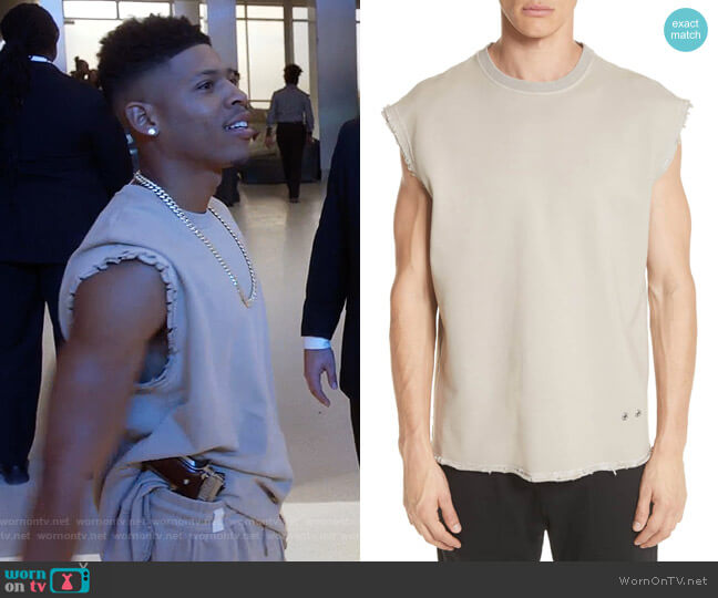 Distressed Sleeveless T-Shirt by Helmut Lang worn by Hakeem Lyon (Bryshere Y. Gray) on Empire