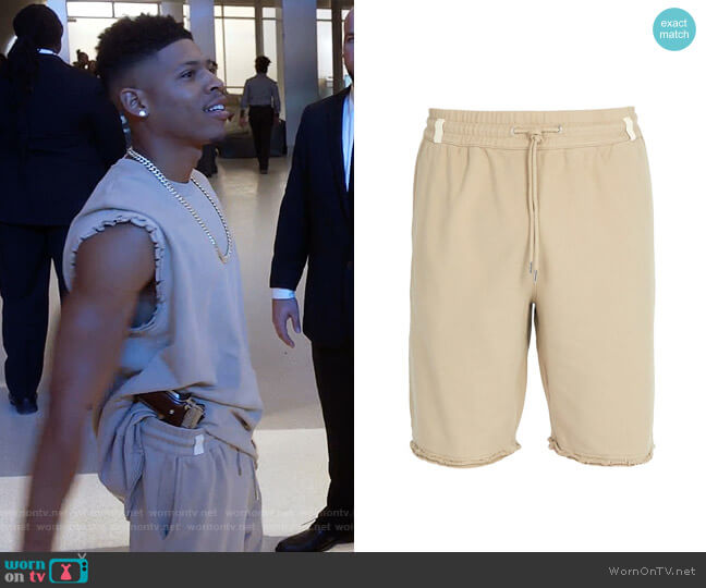Distressed Hem Cotton Shorts by Helmut Lang worn by Hakeem Lyon (Bryshere Y. Gray) on Empire