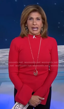 Hoda's red bell sleeve top on Today