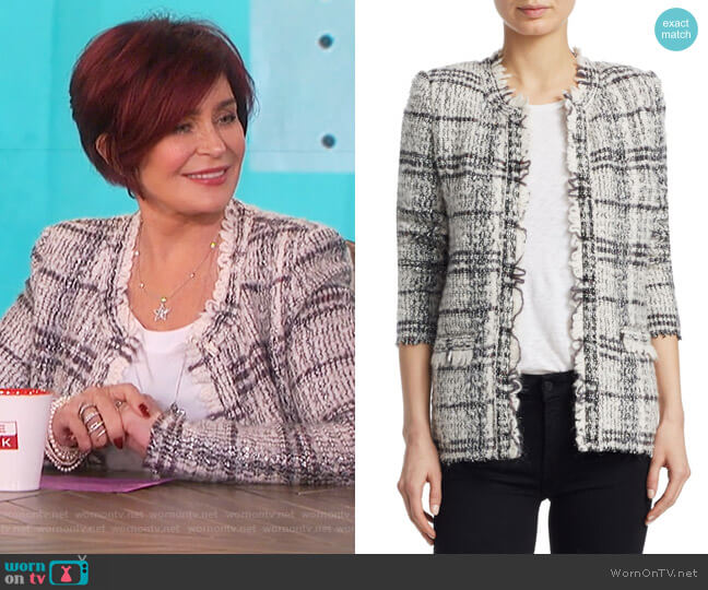 Blanca Plaid Tweed Jacket by IRO worn by Sharon Osbourne  on The Talk