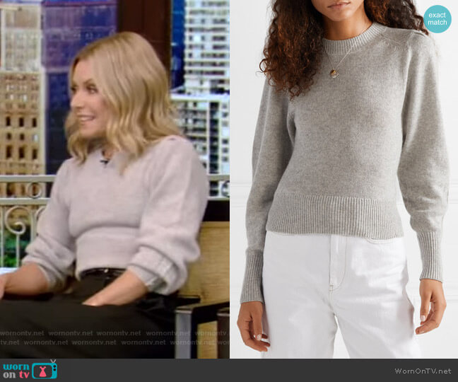 Conroy Sweater by Isabel Marant worn by Kelly Ripa  on Live with Kelly & Ryan