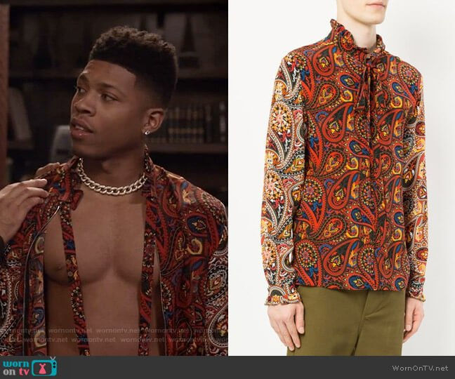 Paisley-Print Shirt by JW Anderson worn by Hakeem Lyon (Bryshere Y. Gray) on Empire