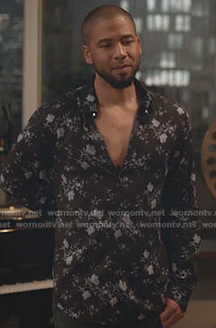 Jamal's black floral shirt on Empire