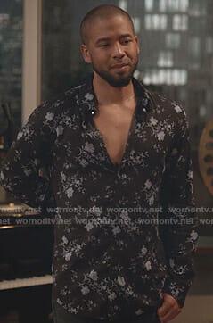 Jamal's black floral shirt on Empire