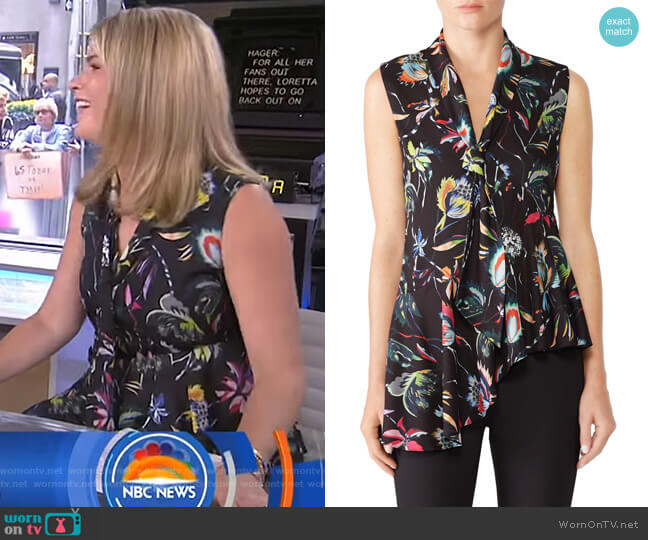 Jungle Flower Top by Jason Wu worn by Jenna Bush Hager  on Today