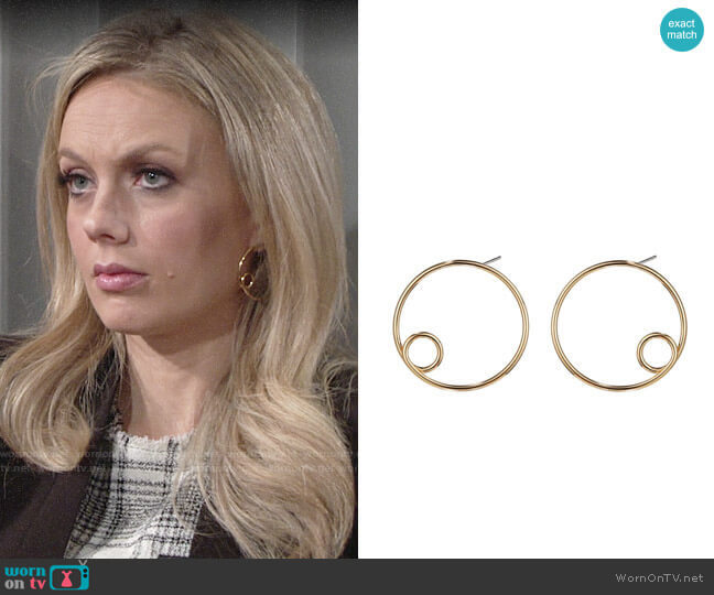Jenny Bird Otis Hoop Earrings worn by Abby Newman (Melissa Ordway) on The Young & the Restless