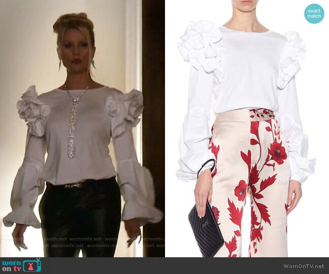 Kyoto Top by Johanna Ortiz worn by Alexis Carrington (Nicollette Sheridan) on Dynasty