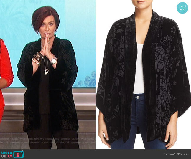 Ivy Reversible Velvet Kimono by Johnny Was worn by Sharon Osbourne on The Talk