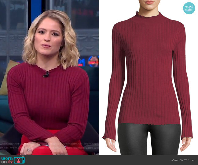 Gestina Sweater by Joie worn by Sara Haines  on Good Morning America