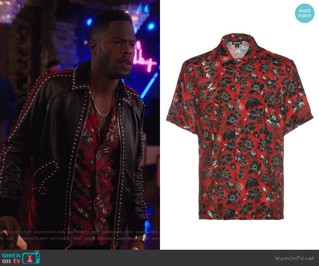 Patterned Shirt by Just Cavalli worn by Jeff Colby (Sam Adegoke) on Dynasty