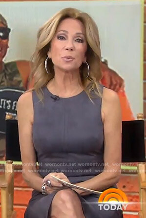 Kathie's grey suede dress on Today