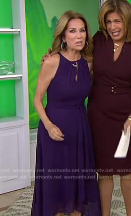 Kathie's purple keyhole midi dress on Today