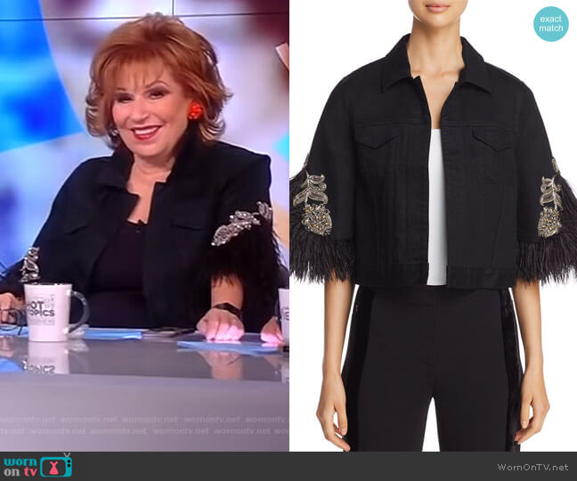 Meghan Mccain The View Joy Behar: WornOnTV: Meghan's Navy Tipped Blazer On The View