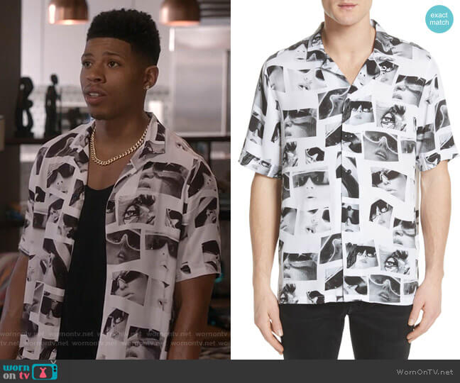 Sedation Eyes Print Camp Shirt by Ksubi worn by Bryshere Y. Gray on Empire