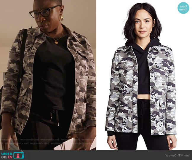 Cromwell Military Jacket by L'Agence worn by Henrietta Wilson (Aisha Hinds) on 9-1-1