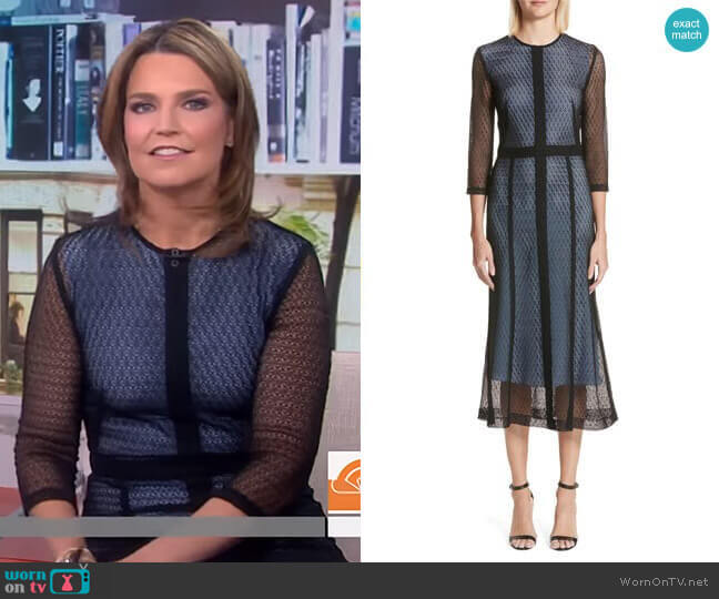 Lace Midi Dress by Victoria Beckham worn by Savannah Guthrie (Savannah Guthrie) on Today