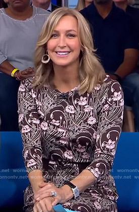 Lara's brown floral print dress on Good Morning America