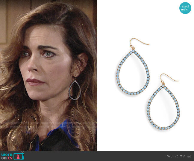 Loren Hope Emilia Earrings worn by Amelia Heinle on The Young & the Restless