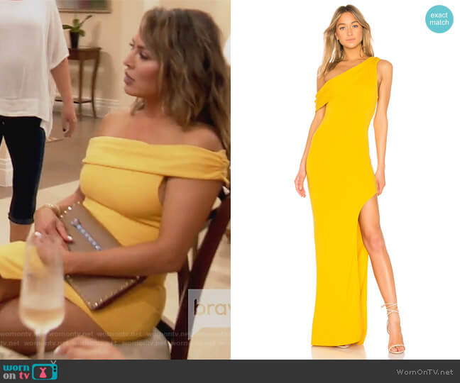 Marigold Gown by Lovers + Friends worn by Kelly Dodd  on The Real Housewives of Orange County