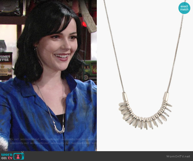 Madewell Mini Coinmix Necklace worn by Cait Fairbanks on The Young & the Restless