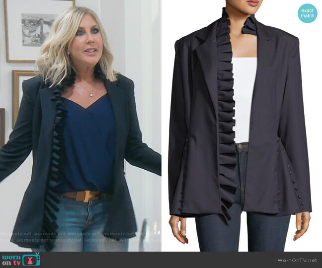 I Lead From The Heart Blazer by Maggie Marilyn worn by Vicki Gunvalson on The Real Housewives of Orange County